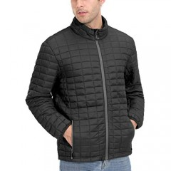 Little Donkey Andy Men's Insulated Hiking Jacket  Quilted Puffer Jacket with Synthetic Insulation
