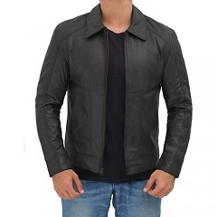 Brown & Black Real Lambskin Leather Jackets for Men