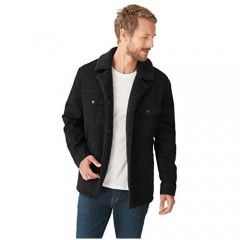 Lucky Brand mens Long Sleeve Button Down Ranch Sherpa Coat