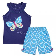 Little Girls Outfit Summer Cotton Shorts Set Toddler Outfit Clothes Set