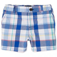 The Children's Place Baby Boys' Checkered Chino Shorts