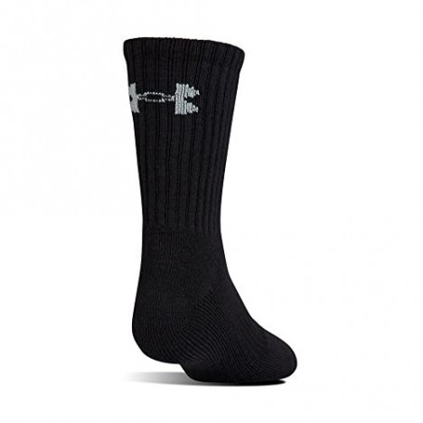 Under Armour Youth Cotton Crew Socks 6-pairs