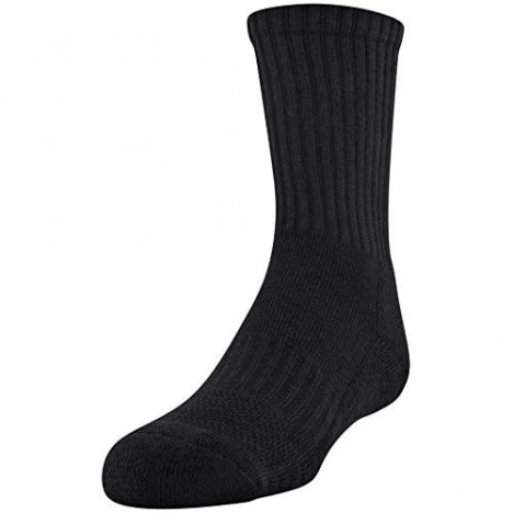 Under Armour Youth Training Cotton Crew Socks 3-Pairs