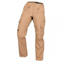 LA Police Gear Women's Operator Pant with 8 Pockets and Elastic Waist